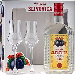 Bošácka Slivovica Hranatá s 2 pohármi 52% 0,7l