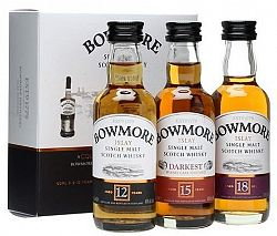 Bowmore Mini Set (12,15,18) 42% 0,15l