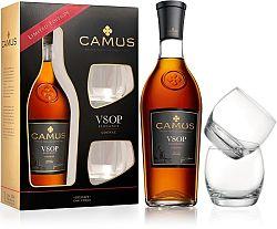 Camus VSOP Elegance s 2 pohármi 40% 0,7l