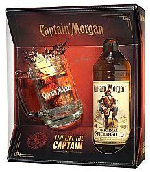 Captain Morgan Spiced Gold s pohárom 35% 0,7l