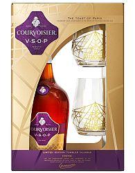 Courvoisier VSOP s 2 pohármi 40% 0,7l