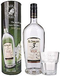 El Dorado 3 ročný s pohárom 40% 0,7l