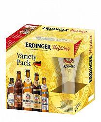 Erdinger variety pack 5x500ml + pohár