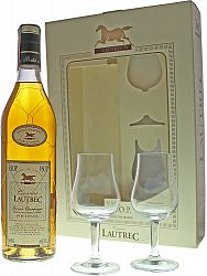Lautrec VSOP s 2 pohármi 40% 0,7l