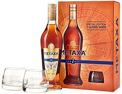 Metaxa 7* s 2 pohármi 40% 0,7l