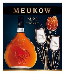 Meukow VSOP Superior s 2 pohármi 40% 0,7l