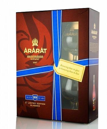 Ararat Akhtamar + 2 poháre 0,7l (40%)