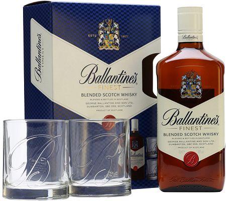 Ballantine's s 2 pohármi 40% 0,7l