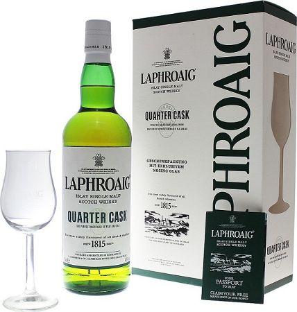 Laphroaig Quarter Cask s pohárom 48% 0,7l