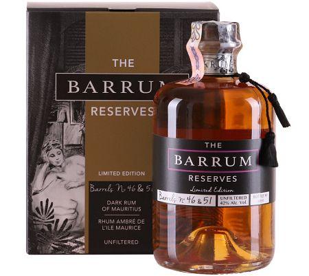 The Barrum Unfiltered Dark Rum 42% 0,7l